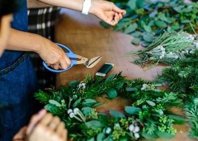 Holiday Evergreen Wreath Decoration