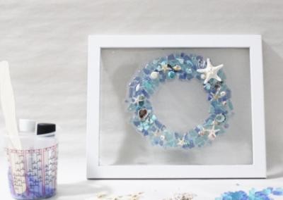 Forever Sea Glass Wreath