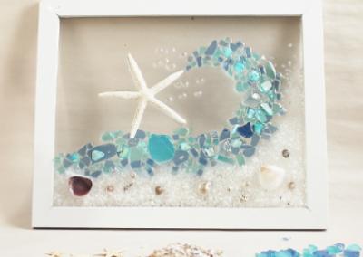 Sea Glass Wave (Framed)